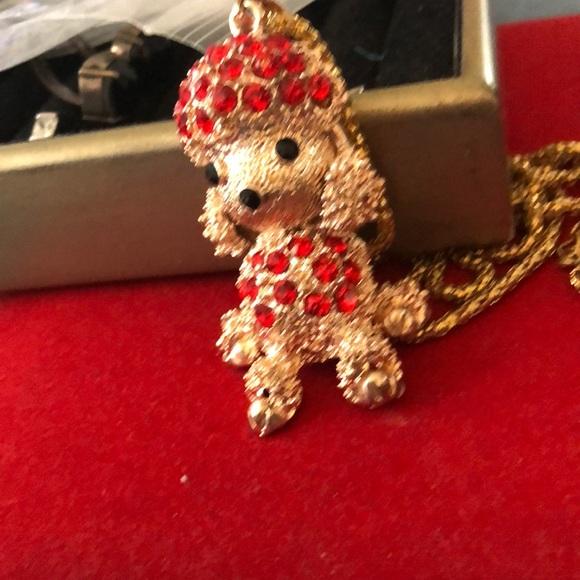 Vintage Poodle Pendant With Chain